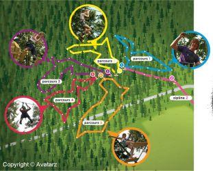 Avatarz klimparcours plattegrond
